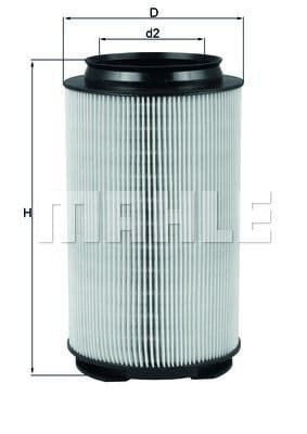 13717558382 Mahle LX1628 Cylindrical Air Filter
